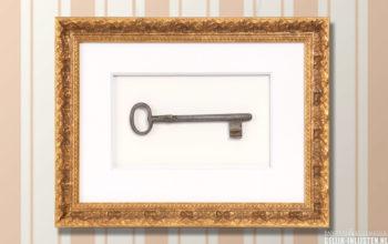 Mooie oude sleutel inlijsten