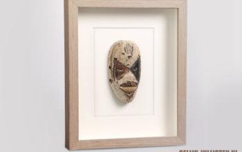 Traditioneel masker inlijsten