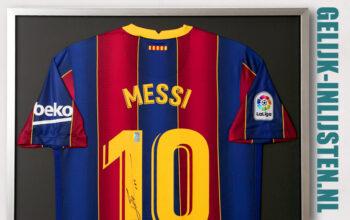 Messi voetbalshirt inlijsten