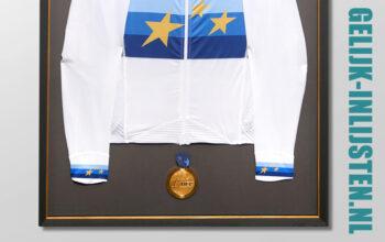 Shirt inlijsten met medaille